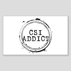 CSI Addict Stamp Rectangle Sticker