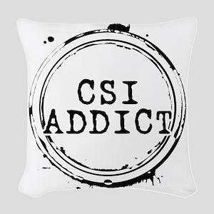 CSI Addict Stamp Woven Throw Pillow