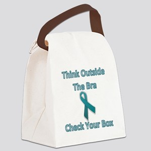 Check Your Box Canvas Lunch Bag