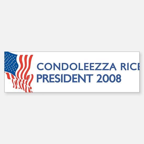 CONDOLEEZZA RICE for Presiden Bumper Bumper Bumper Sticker
