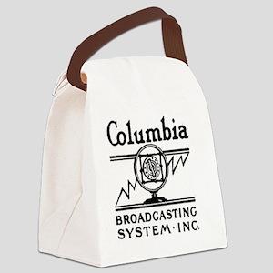 CBS RADIO - COLUMBIA BROADCASTING Canvas Lunch Bag
