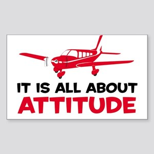 Attitude A Rectangle Sticker