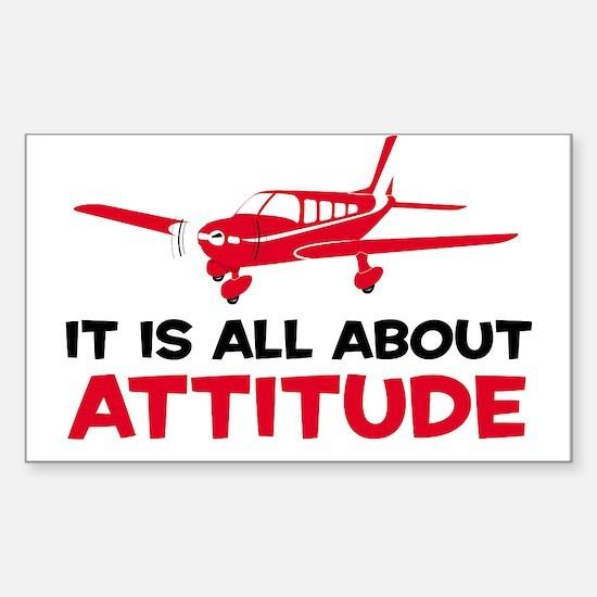 Attitude A Rectangle Decal