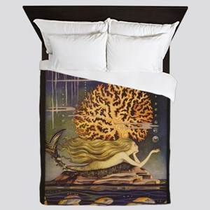 Vintage Mermaid Queen Duvet