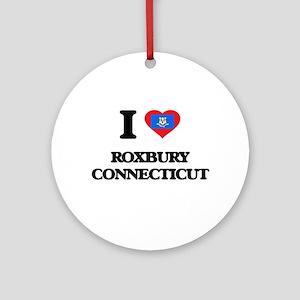 I love Roxbury Connecticut Ornament (Round)