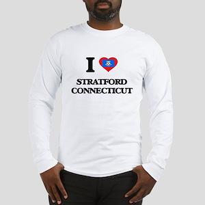 I love Stratford Connecticut Long Sleeve T-Shirt