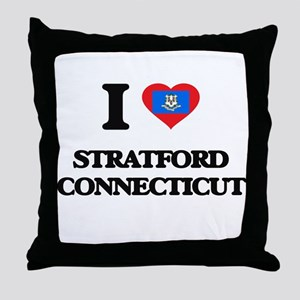 I love Stratford Connecticut Throw Pillow