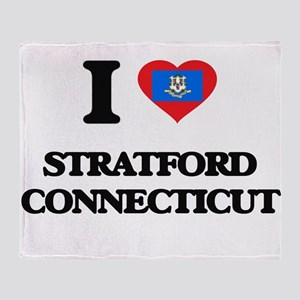 I love Stratford Connecticut Throw Blanket