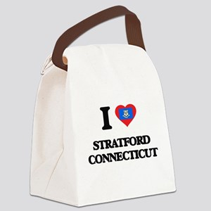 I love Stratford Connecticut Canvas Lunch Bag