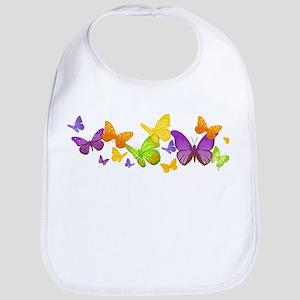 Cute Butterflies Bib