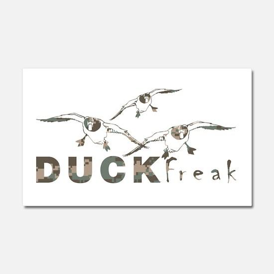 DUCK FREAK Car Magnet 20 x 12