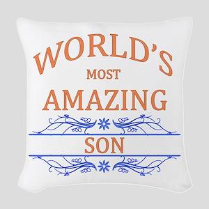 Son Woven Throw Pillow