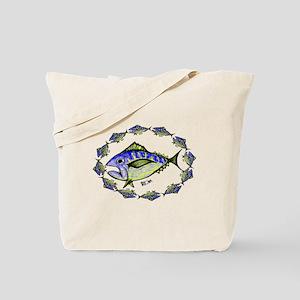 Big Retro Tuna  Oval. Fish Retro Tuna RCM Tote Bag