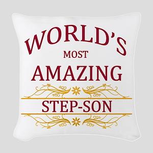 Step-Son Woven Throw Pillow