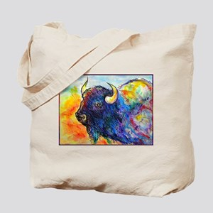 Colorful buffalo, southwest art Tote Bag