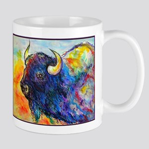 Colorful buffalo, southwest art Mugs