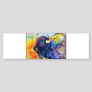 Colorful buffalo, southwest art Bumper Sticker