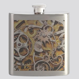 Steampunk Gears Flask