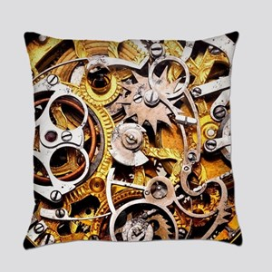 Steampunk Gears Everyday Pillow