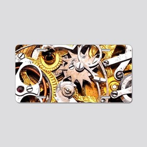 Steampunk Gears Aluminum License Plate