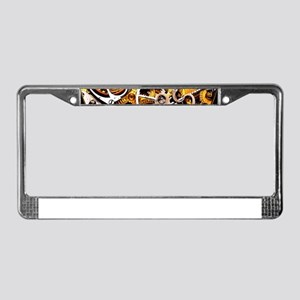 Steampunk Gears License Plate Frame