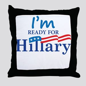 Hillary Clinton For Presidant 2016 Throw Pillow