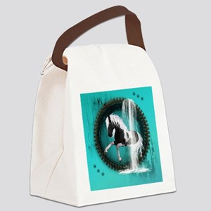Awesome horse Canvas Lunch Bag