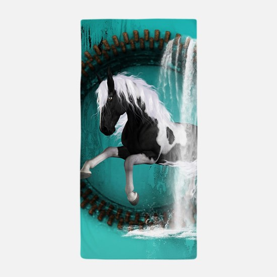 Awesome horse Beach Towel
