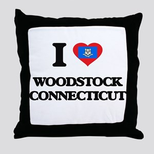 I love Woodstock Connecticut Throw Pillow