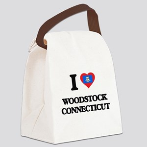 I love Woodstock Connecticut Canvas Lunch Bag