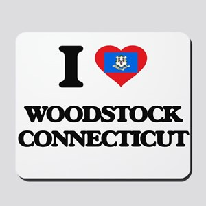 I love Woodstock Connecticut Mousepad