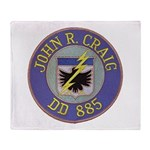 USS JOHN R. CRAIG Throw Blanket