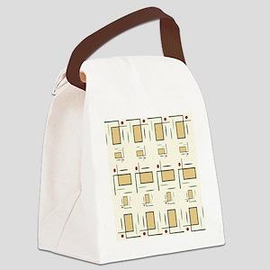 Retro Flip Canvas Lunch Bag