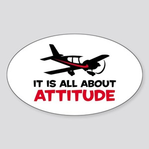 Attitude C Oval Sticker