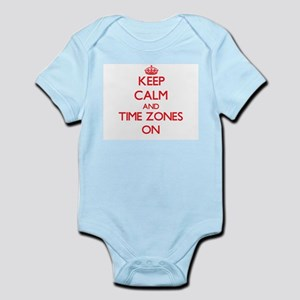 Keep Calm and Time Zones ON Body Suit