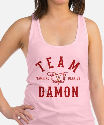 Team Damon Vampire Diaries Racerback Tank Top