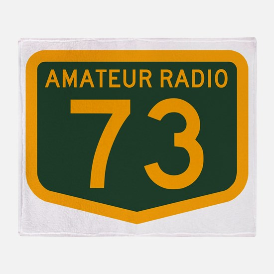 Amateur Radio 73 Throw Blanket