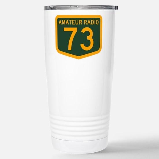 Amateur Radio 73 Stainless Steel Travel Mug