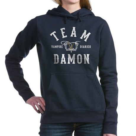 Team Damon Vampire Diaries Women's Hooded Sweatshi
