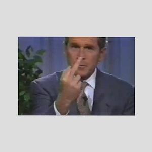 Bush Finger Rectangle Magnet