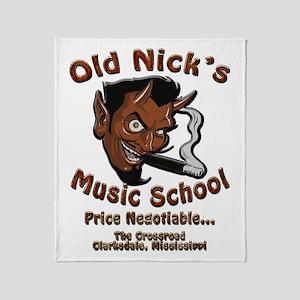 Old Nick's Music School Throw Blanket