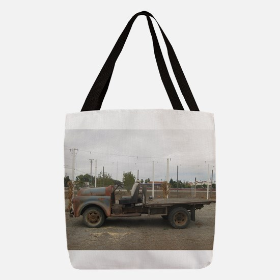 very old truck at Alamden Ranch Polyester Tote Bag