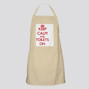 Keep Calm and Toilets ON Apron