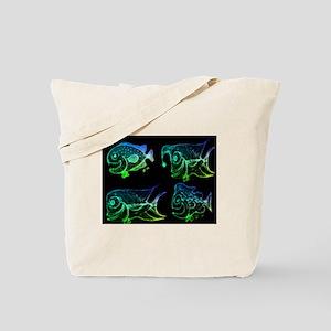 Retro Fish Combo. Fish Retro Tuna RCM Wil Tote Bag