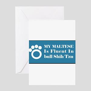 Maltese Greeting Card