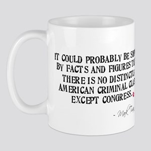 Mark Twain Criminal Congress Mug