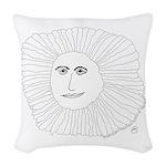 Samurai Sunflower Woven Throw Pillow