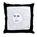 Samurai Sunflower Throw Pillow