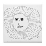 Samurai Sunflower Tile Coaster