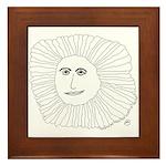 Samurai Sunflower Framed Tile